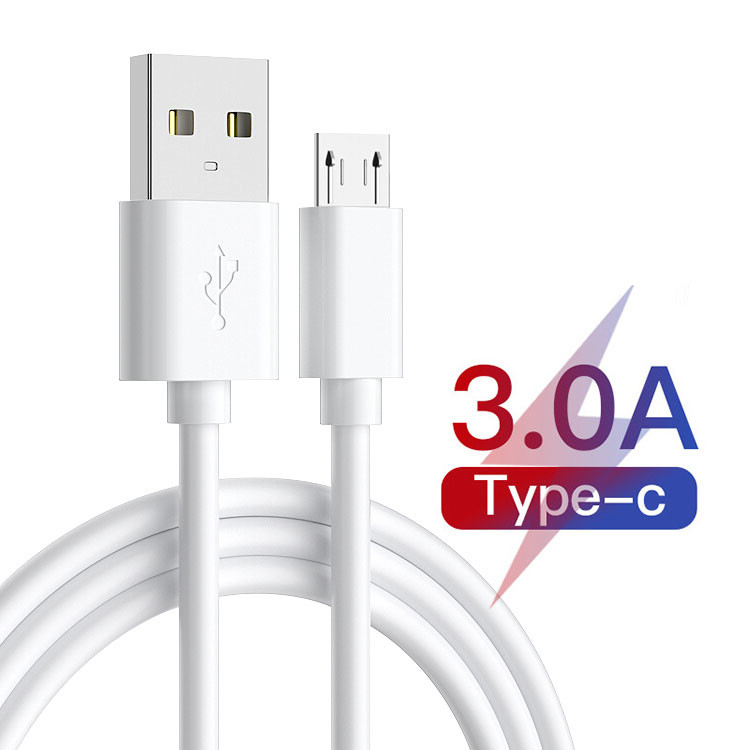 PVC USB Type C Charging Cable 1m 3A Type C Data Transfer Cable