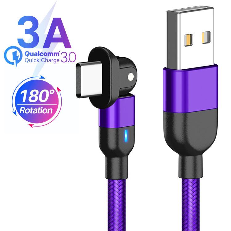 Data Transfer 2M Magnetic USB Charging Cable SGS 2 In 1 USB C Cable