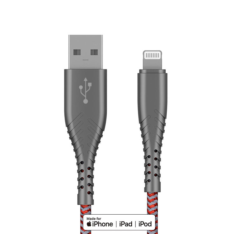 MFI Lighting Cable MFI Certified Cable Customized Logo For Original iphone Apple Nylon Braided USB Charging Cable